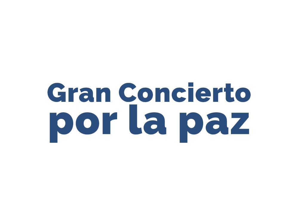 El gran concierto por la paz en Bogotá