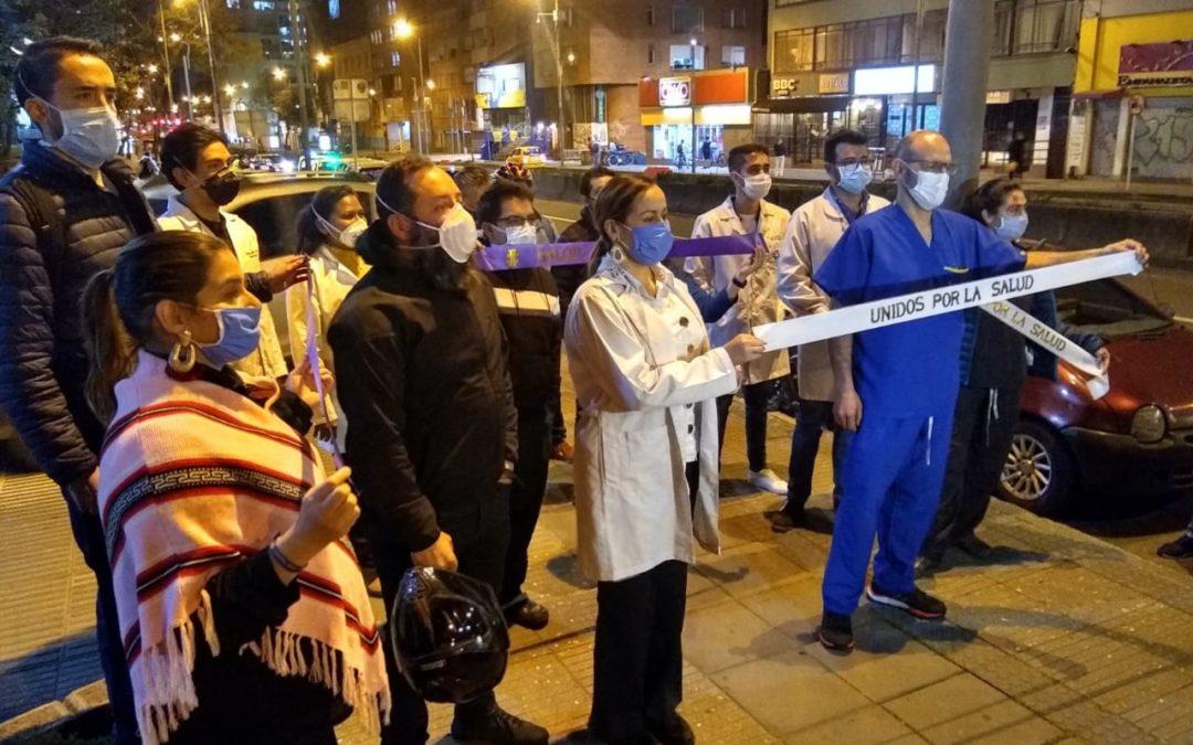 #SaludEnRiesgo, bocinazo en solidaridad con el médico José Julián Buelvas