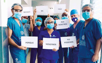 22 organizaciones denuncian dramática situación del personal de la salud frente a la pandemia
